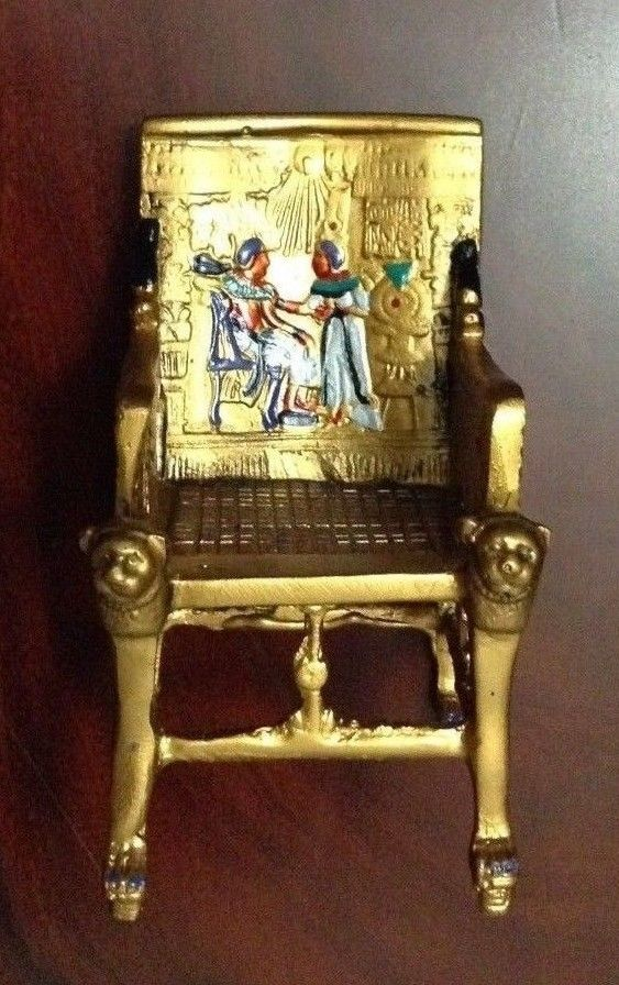 King Tut Egyptian Throne Chair Dark Oxidized Bronze Amp Gold