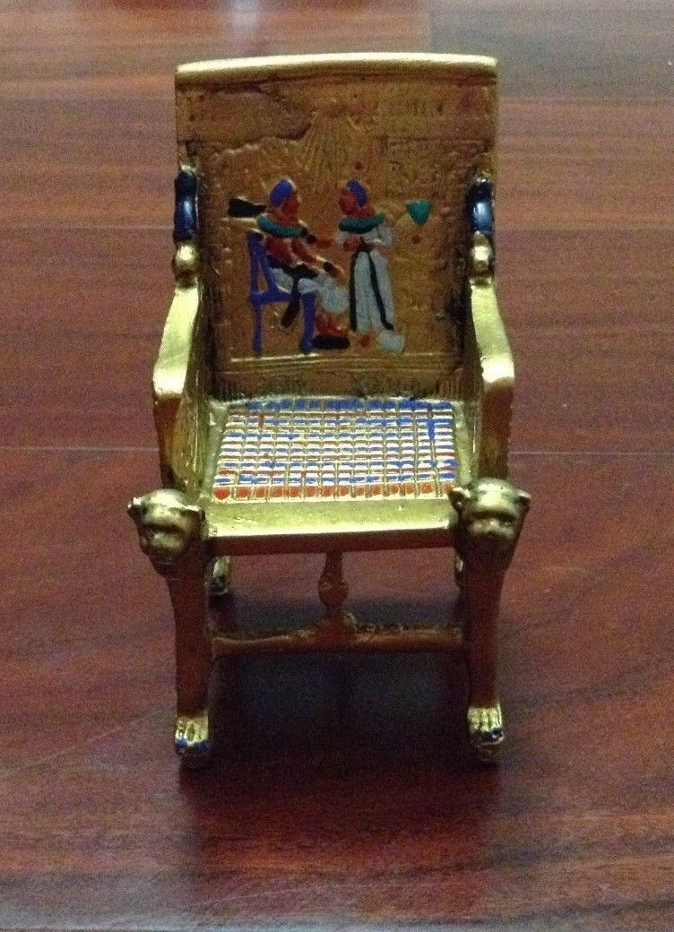 Home / Egyptian Handcrafts / Pharaoh Statues / King Tut Egyptian Throne  Chair.Dark Oxidized Bronze U0026 Gold, Made In Egypt